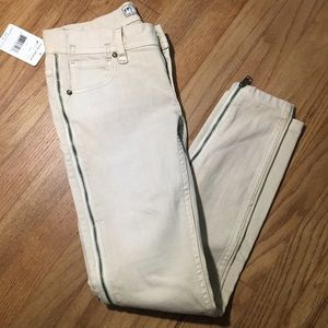 NWT Free People Jeans with zipper detail size 25